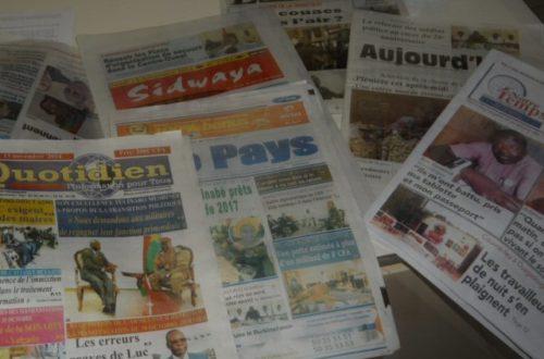 Article : L'information, la presse à la une du quotidien des Burkinabé